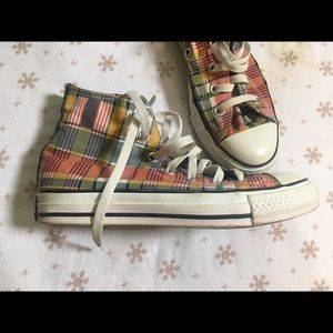Women's Plaid Hi-Top Converse *EUC*